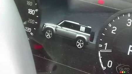 First Peek of the 2020 Land Rover Defender… Via its Instrument Cluster