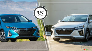 Comparaison : Hyundai IONIQ Electric Plus 2019 vs Toyota Prius Prime 2019