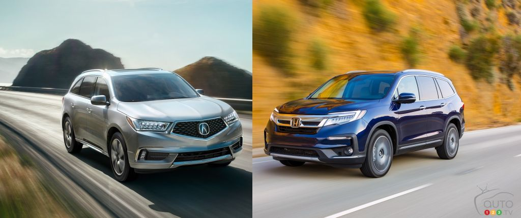 Comparison: 2019 Honda Pilot vs 2019 Acura MDX