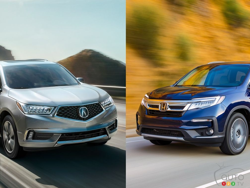 Mdx Vs Pilot >> Comparison 2019 Honda Pilot Vs 2019 Acura Mdx Car Reviews Auto123