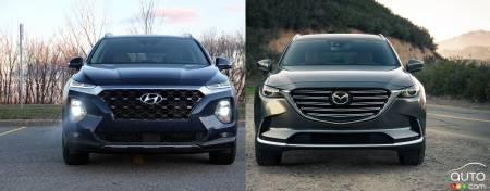 Comparison 2019 Hyundai Santa Fe Vs 2019 Mazda Cx 9 Car