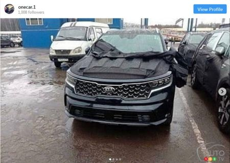 Images Surface of the 2021 Kia Sorento Without Camouflage