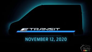 Silhouette of the 2022 Ford E-Transit