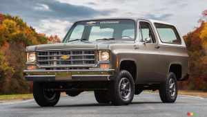 Chevrolet Shows 1977 K5 Blazer with Chevy Bolt EV Innards
