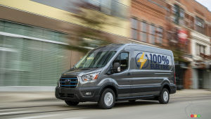 Ford Unveils the 2022 E-Transit Van