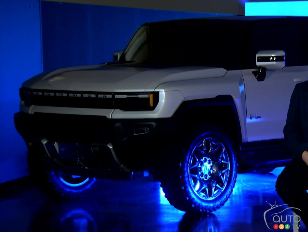 The GMC Hummer SUV shown in background