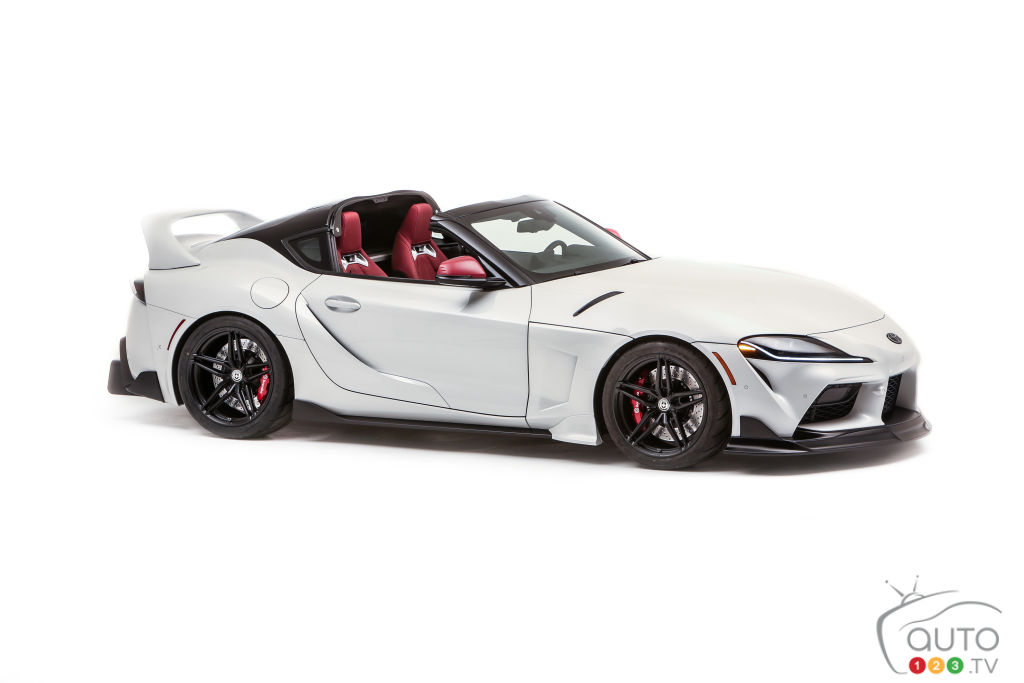 This Targa-Roofed Version of the 2021 Toyota Supra Is a Sight to Behold