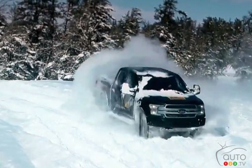 Ford Tests Future Electric F-150 in the Snow