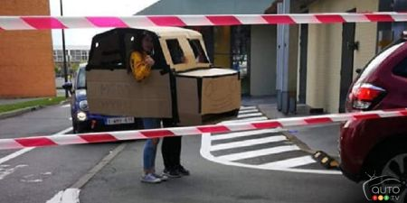 That time They Built a Cardboard Car to Access a Drive-Thru…