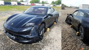 Owner Wrecks Porsche Taycan After Driving it Only 24 km