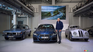 Pieter Nota of BMW with the 2021 BMW 4 Series Coupé