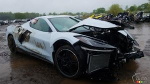 This Wrecked 2020 Corvette Could Be Worth More Than New