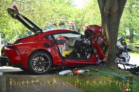 New 2020 Toyota Supra Wrecked During Test Drive at Dealer