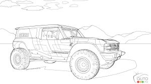 Kids on vacation? How About New Ford Bronco Colouring Pages?