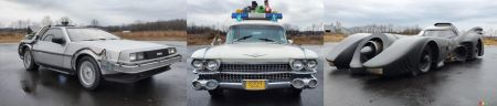 Three Replicas of Famous 80s Movie Cars to Be Auctioned Off