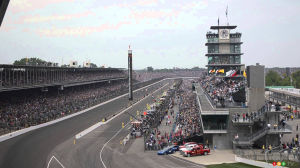 Empty Stands for the Indianapolis 500 on August 23