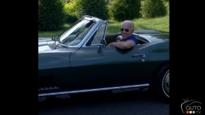 Joe Biden at the wheel of his 1967 Chevrolet Corvette