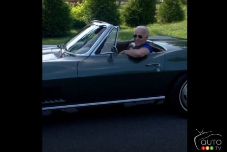 A Different Vetting Process: Joe Biden shows off his '67 Chevy Corvette