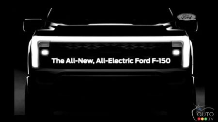 Ford Shows Front Grille of Future F-150 Electric Truck