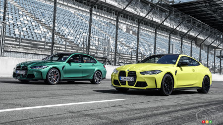 Here are the 2021 BMW M3 and M4