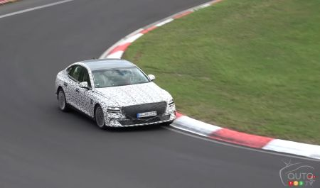 Electric Genesis G80 Seen in Testing at the Nürburgring