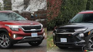 Comparaison : Kia Seltos 2021 vs Chevrolet Trailblazer 2021