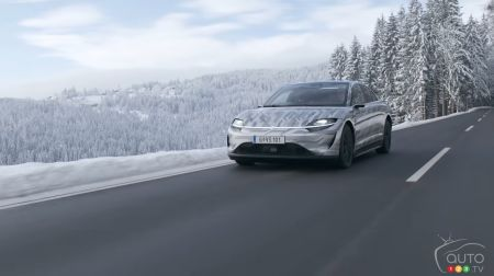 Sony's Electric Car in On-Road Testing in Europe