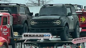 Two Ford Bronco Prototypes Damaged in Trailer Fire