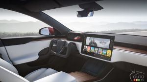 Tesla Model S, new interior