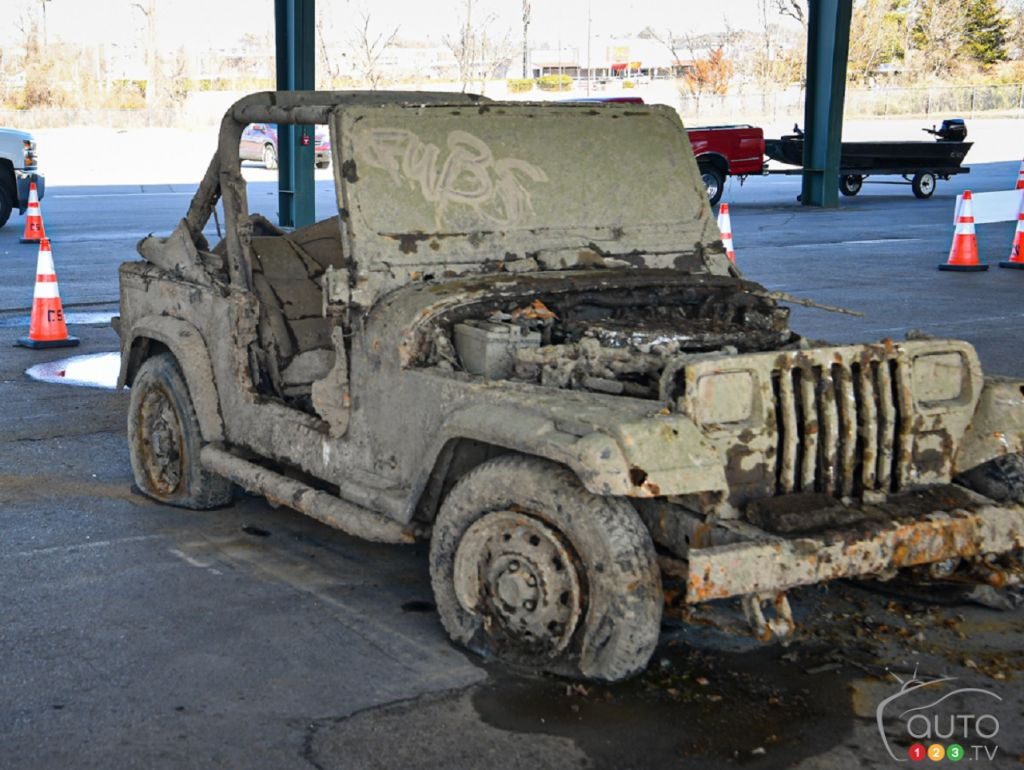 Recovered Jeep