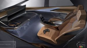 GM Shows a Vehicle Interior Conceived for Video Gaming