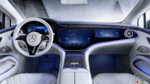 Mercedes-Benz Showcases Futuristic Dashboard of its Upcoming EQS