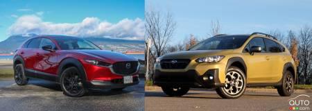 Comparison: 2021 Mazda CX-30 vs 2021 Subaru Crosstrek ...