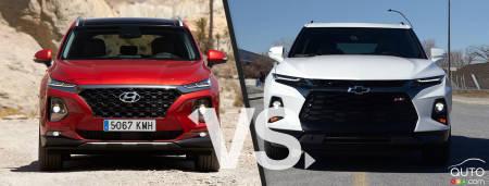 2020 Hyundai Santa Fe / 2020 Chevrolet Blazer, front