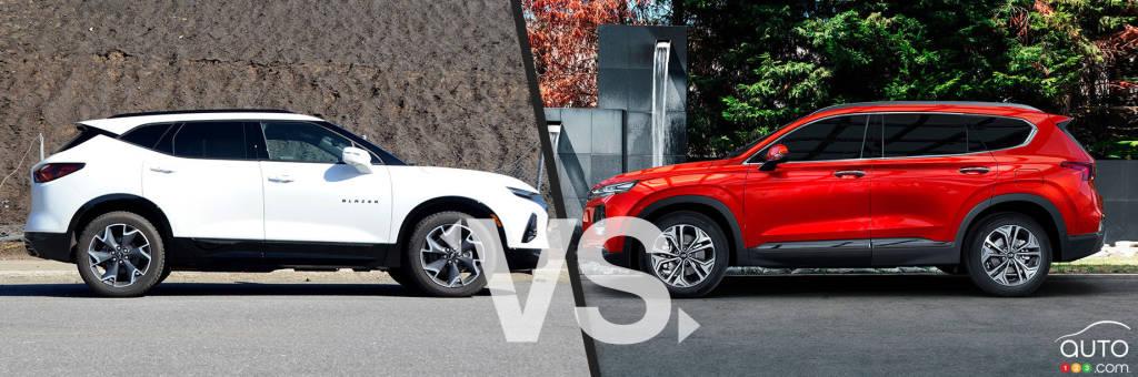 Chevrolet Blazer 2020 / Hyundai Santa Fe 2020, profil