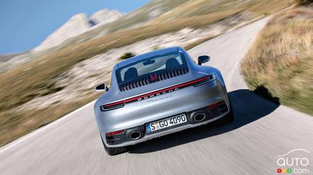 2020 Porsche 911, on the road