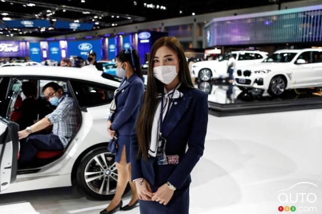 À l'intérieur du Salon de l'automobile de Bangkok
