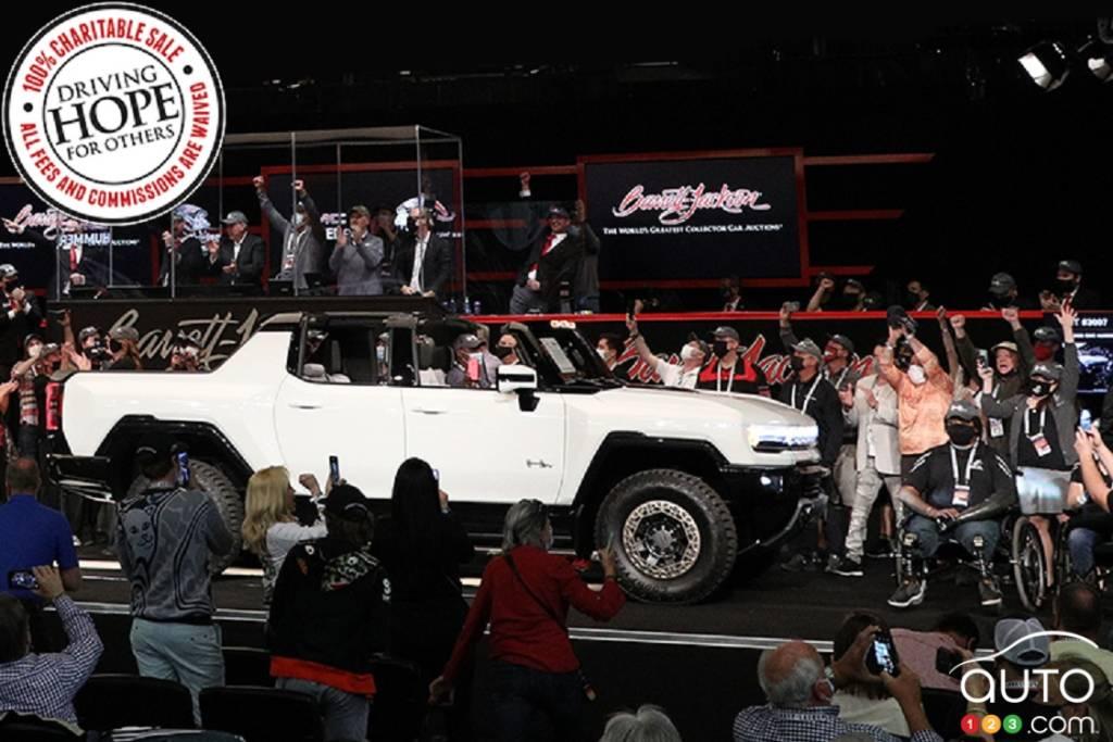 Version pré-production du GMC Hummer lors de l'encan