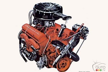 Original small block: The small Chevrolet V8 with 265 cubic inches of displacement is at the origin of the term small block.