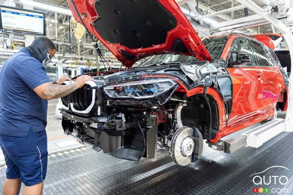 Le cinq millionième BMW, en construction