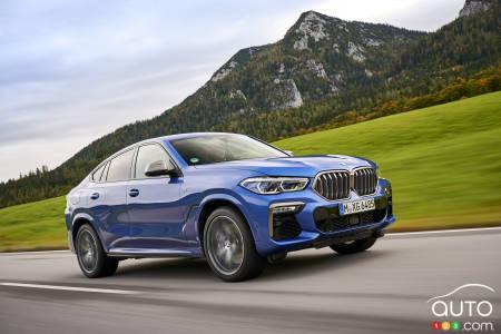 2020 BMW X6 M50i, three-quarters front