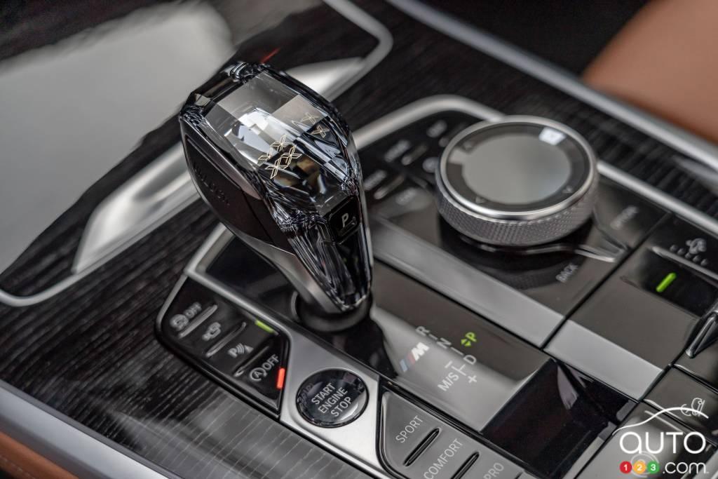 BMW X7 2020,  bas de console
