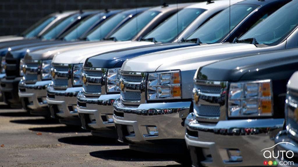 Inventaire camionnettes d'un concessionnaire