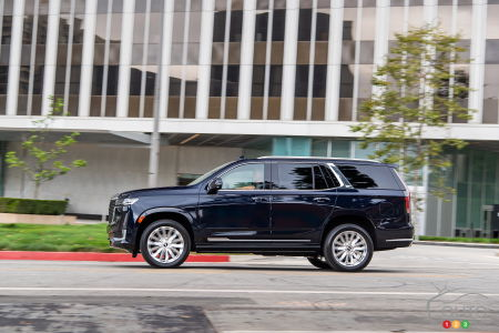 2021 Cadillac Escalade, profile