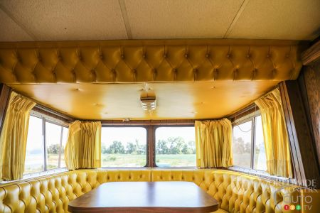 Dining room of the Camelot Cruiser
