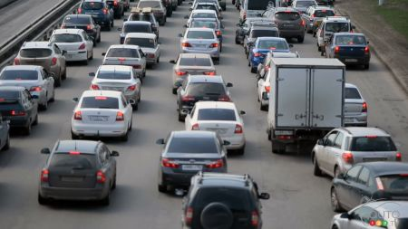 All-grey traffic jam