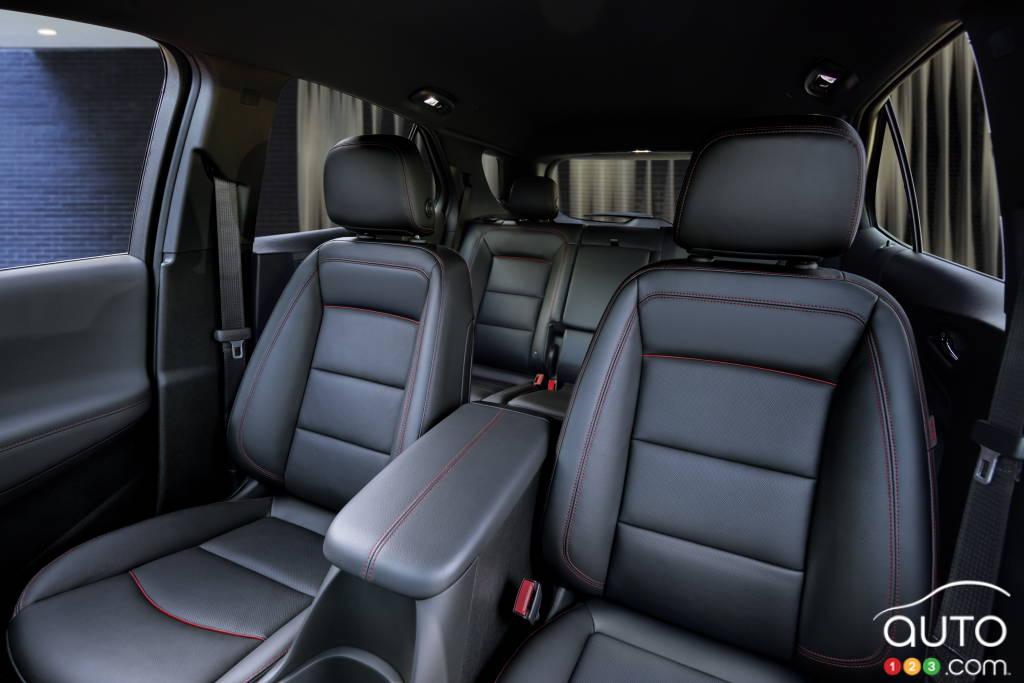 Chevrolet Equinox RS, deuxième rangée de sièges