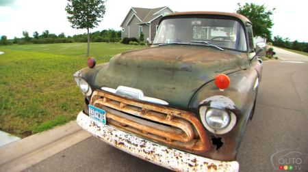 The 1957 Chevrolet pickup, front