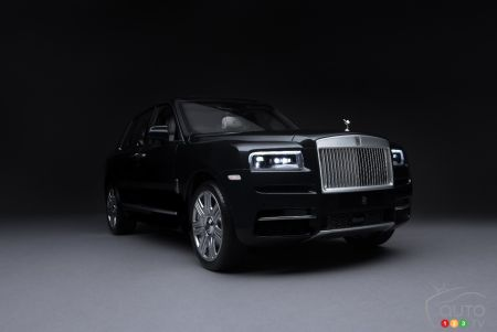 Scale model of the Rolls-Royce Cullinan, front end