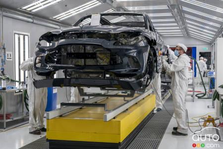 L'Aston Martin DBX 2021, en production